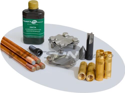 Комплекти обмідненого заземлення типу WTG®, GALMAR
